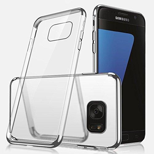 Herbests Coque Etui Housse pour Galaxy S6 Edge Coque Silicone Étui Housse avec Motif,Ultra Mince Crystal Clear Transparent Silicone Soft TPU Étui Coque