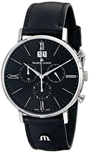 Maurice Lacroix EL1088-SS001-310 - Reloj de Pulsera Hombre, Color Negro
