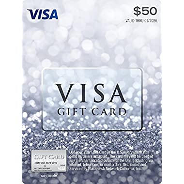 $50 Visa Gift Card (No Fees After Purchase)