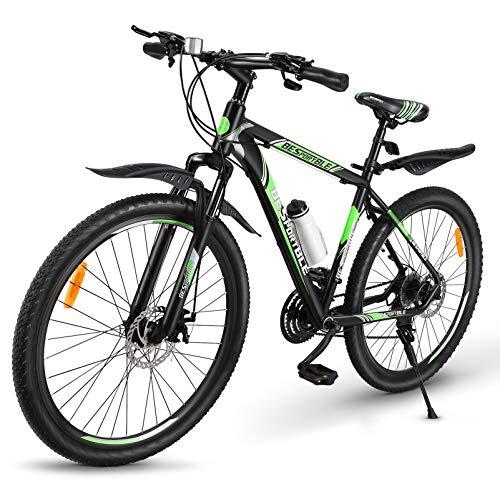 BESPORTBLE Mountain Bike 21 Speed 27.5 Inch Bikes Aluminum Frame Mechanical Disc Brake Suspension Fork Outdoor Bicycle for Men Women