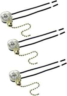 Mobestech - 3 piezas de cadena de tracción para ventilador de techo, repuesto de interruptor de cadena de encendido/apagado
