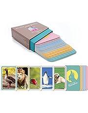 """Het Montessori leerzame spel voor peuters vanaf 1 jaar door """"Kakaduu"""": Mijn eerste woorden: Dieren"""". 50 kaarten met foto's van dieren. Flashcards flashcards for toddlers."""