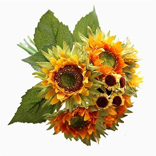 Flor Preservada Girasol sosteniendo Flores Ramo de Flores Artificiales Flores Manojo Mesa de la casa Sala de Estar Decoración de la Boda Flor Artificial