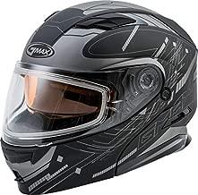 G-Max MD-01S Wired Helmet Matte Black/Silver (Black, X-Large)