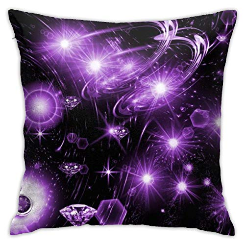 Throw Pillow Cover Cushion Cover Pillow Cases Decorative Linen Diamond And Sky for Home Bed Decor Pillowcase,45x45CM