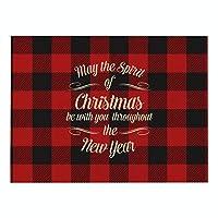 DENGZI ランチョンマット クリスマステーブルの装飾に使用される、綿とリネンのまとめのクリスマスプルカット、防水と掃除が簡単、16 x 12インチグリッドプラセマットワンピース (Color : E, Size : 32x42cm waterproof)