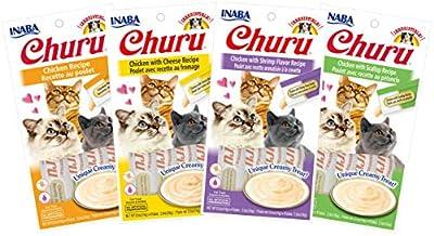 INABA Churu Lickable Purée Natural Cat Treats (Chicken Variety Pack, 16 Tubes)