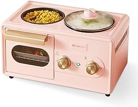 KELITE Mini Horno Hogar Máquina de Desayuno Multifuncional Cuatro en una tostadora Tortilla Horno Horno Emblor Cocina pequeña Cocina 220V (Color : Pink)