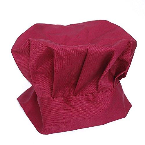 ICYANG 1 gorro de chef ajustable elástico para cocina y catering suministros...