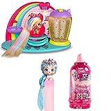 VIP PETS - Pack Peluquería de Fabio & Fabia con su muñeca exclusiva + 1 VIP Pets Glitter Twist perrita a peinar