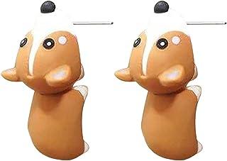 Hengjierun Schattige bijtende oorstekers, 3D Kawaii dinosaurus beet oorbellen hond haai walvis nijlpaard dier oorstekers c...