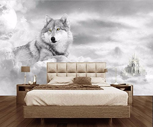 WH-PORP Custom 3D tapete Murals Mood Personality Tv Background Wall Wolf Siberian-128cmX100cm