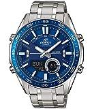 Casio EDIFICE Reloj en caja sólida, 10 BAR, Azul, para Hombre, con Correa de Acero inoxidable, EFV-C100D-2AVEF