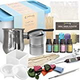 Dellabella Candle Making Kit – Wax and Accessory DIY Set for The Making of Scented Candles - Easy to Make Colored Candle Soy Wax Kit