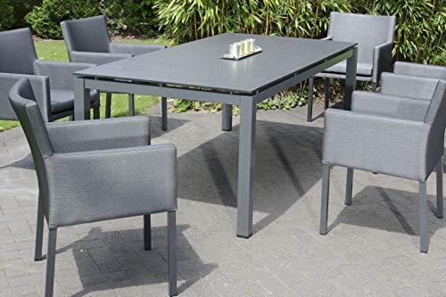 Sonnenpartner Base/Compact Esstisch, anthrazit, Aluminium/HPL, 200 x 100 x 74,3 cm, rechteckig