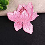 1Pc Flower Embroidery Patch Heat Transfers Iron On Sew Patches for DIY T-Shirt Clothes Stickers Decorative Appliques,2BT-47281-7