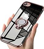 iPhone7 ケース / iPhone8 ケース リング クリア透明 耐衝撃 全面保護 磁気カーマウントホルダ……