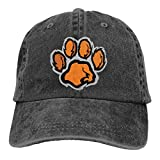 Hoswee Casquette de Baseball Chapeau Footprint Animal Furry Adult Custom Jeans Outdoor Sports Hat Casquette de baseball Ajustable