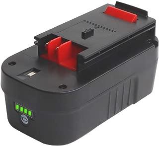 Tenhutt 3000mAh 18Volt Lithium Ion Battery Replacement for Black and Decker HPB18 HPB18-OPE 244760-00 A1718 FS18FL FSB18 Firestorm Cordless Power Tools