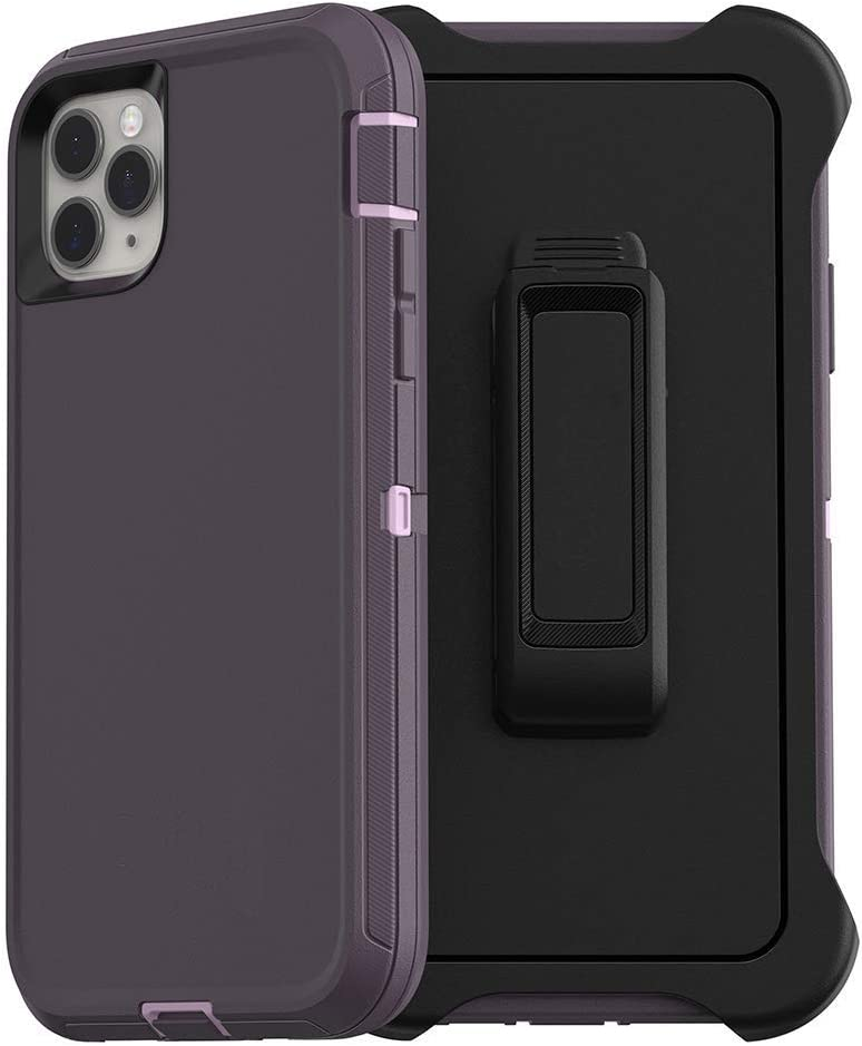 Styqeen iPhone 11 Pro Max Case, Full Body Heavy Duty Dust-Proof Shockproof Protective Cover and Belt Clip Holster with Kickstand for Apple iPhone 11 Pro Max [6.5 inch] (Purple)