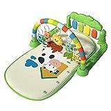 Nedyet Colchoneta de juegos para bebé, gimnasio con música y luz, con varios juguetes sensoriales, música y sonido, adecuado desde el nacimiento
