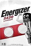 LOT DE 2 PILES ENERGIZER CR2430 - 1 BLISTER DE 2 - LITHIUM 3V validite juillet 2026