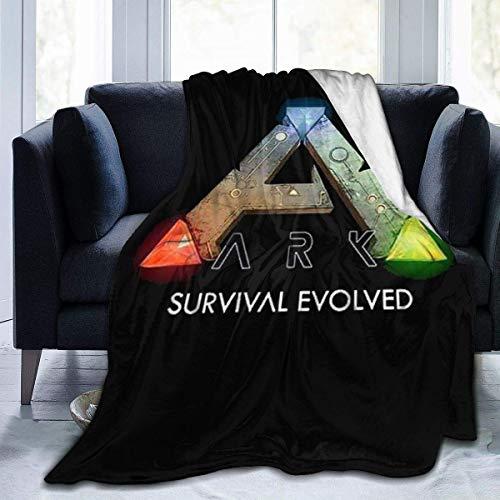 ARK Survival geëvolueerde zachte warme deken,flanellen fleece deken,superzachte micro-fluwelen deken,superzachte hypoallergene pluche slaapbank woonkamer