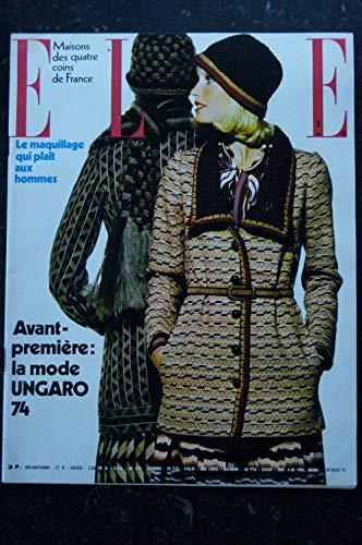 ELLE 1444 20 août 1973 Cover ensemble UNGARO - Marlène Jobert - Annie Girardot - 98 p. Fashion Vintage