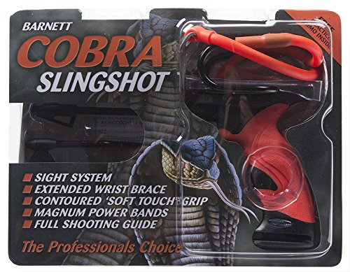 Barnett 160433  Outdoors Cobra Slingshot with Stabilizer and Brace,Red/Black