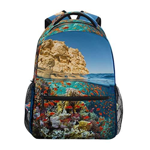 Mochila Escolar Mochila Book Reef Coral Fish Mochila Mochila Mochila...