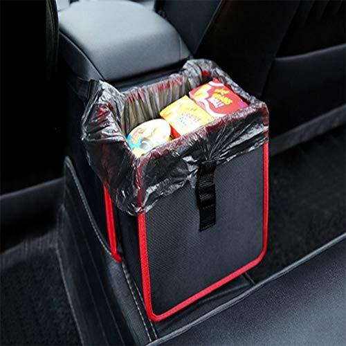 RANRANHOME Hanging Car Trash Bag Peut Premium Waterproof litière Sac Poubelle Organisateur 1,85 Gallon capacité Noire Powertiger (22 * 14.5 cm)