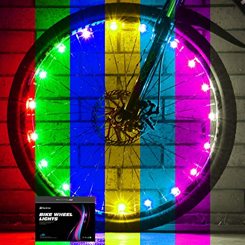 Sumree 2-Tire Pack LED Bike Wheel Lights Bike Spoke Light Super Bright Cycling Bicycle Light with Batteries Included (Color-Changing)