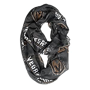 """Littlearth - LIWXY NHL Vegas Golden Knights Sheer Infinity Scarf, 70"""", Black from Little Earth - Drop Ship"""