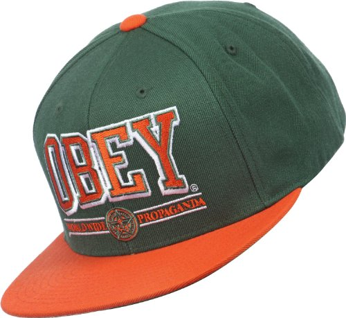 Obey - Casquette Snapback Homme Athletics - Green/Orange