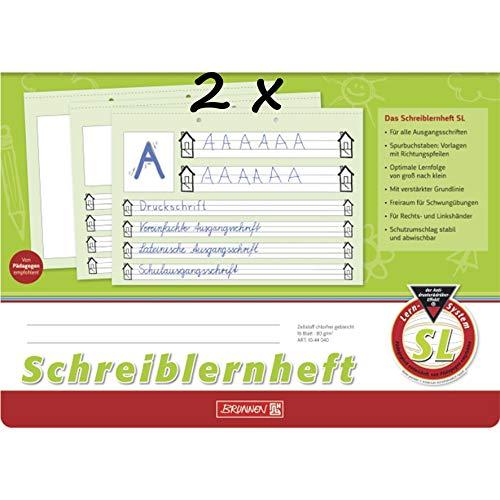 Brunnen Schreiblernheft (2 Hefte, Lineatur SL)