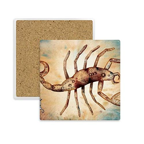 DIYthinker November Oktober Schorpioen sterrenbeeld Zodiac Square Coaster Cup Mok Houder Absorberende Steen voor Drinks 2 stks Gift