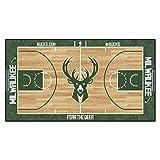 FANMATS NBA Milwaukee Bucks NBA Corte Runner-Large Cabeza de Nailon