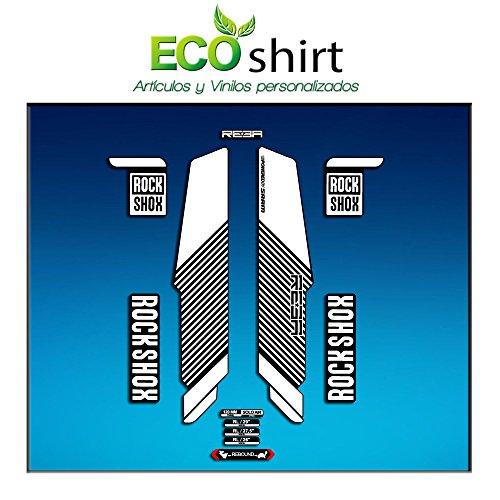 Ecoshirt 2A-NTVC-CHVS Pegatinas Stickers Horquilla Rock Shox Reba RL Fork Am57 MTB Downhill, Blanco 29