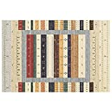 SADOOY Alfombras bereberes estilo de la sala de estar alfombras de Marruecos Suave rayas del color Dormitorios Alfombras acolchada lavable a máquina de vacío suave explosión grande Salón duradero Alfo