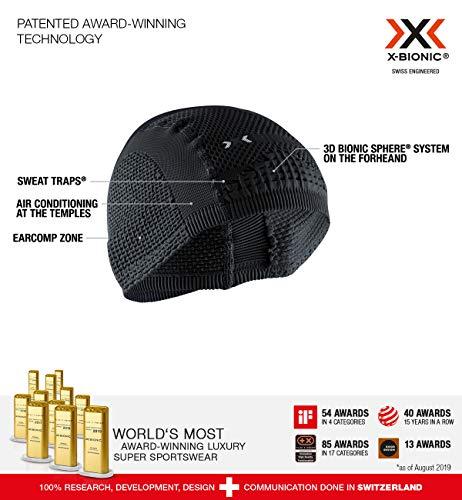 X-Bionic Soma Cap Light 4.0 Bonnet Mixte Adulte, Black/Charcoal, FR : S (Taille Fabricant : 1)