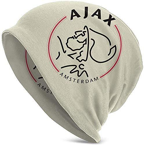 TABUE Uttery gebreide muts voor dames en heren, unisex Slouchy beanie muts soft warm skull cap, AJAX logo