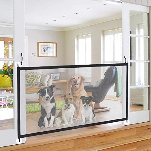 Mesh Dog Gate, Magic Gate for Dog, Portable Folding Baby Gate , Safety Guard for Pet, Safety Fence for Stairways...