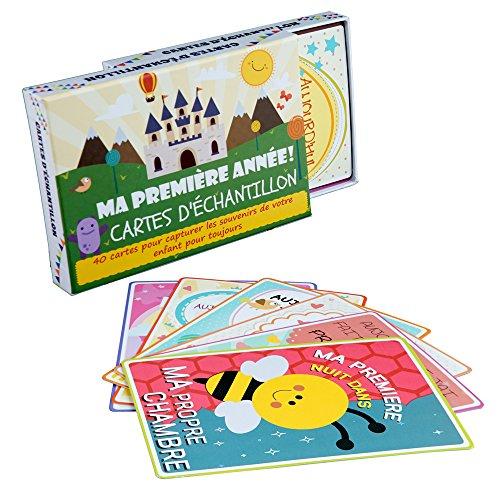 Baby Meilenstein kaarten & milestone baby cards in het Duits - 40 schattige babydagboek babykaarten & fotokaarten voor baby's eerste jaar - het ideale babycadeau