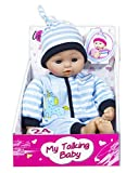 Lissi Poupée bébé douce avec 24 sons 38 cm (Bleu)