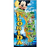 Disney Mickey Mouse Donald Duck Goofy and Pluto Map Beach Towel...
