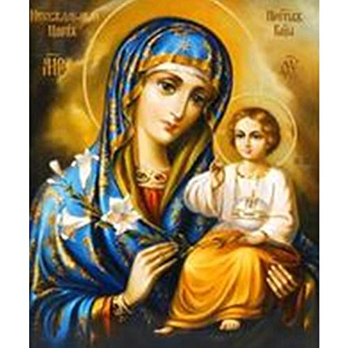 Hua5D Diamond Painting 5D Completo Grande Virgen Religiosa Punto De Cruz Diamante Bordado Diamantes Kits Full Drill For Adults Infantil 40x50cm