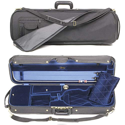 Bobelock 1051 Corregidor 4/4 Violin Case with Blue Velvet Interior