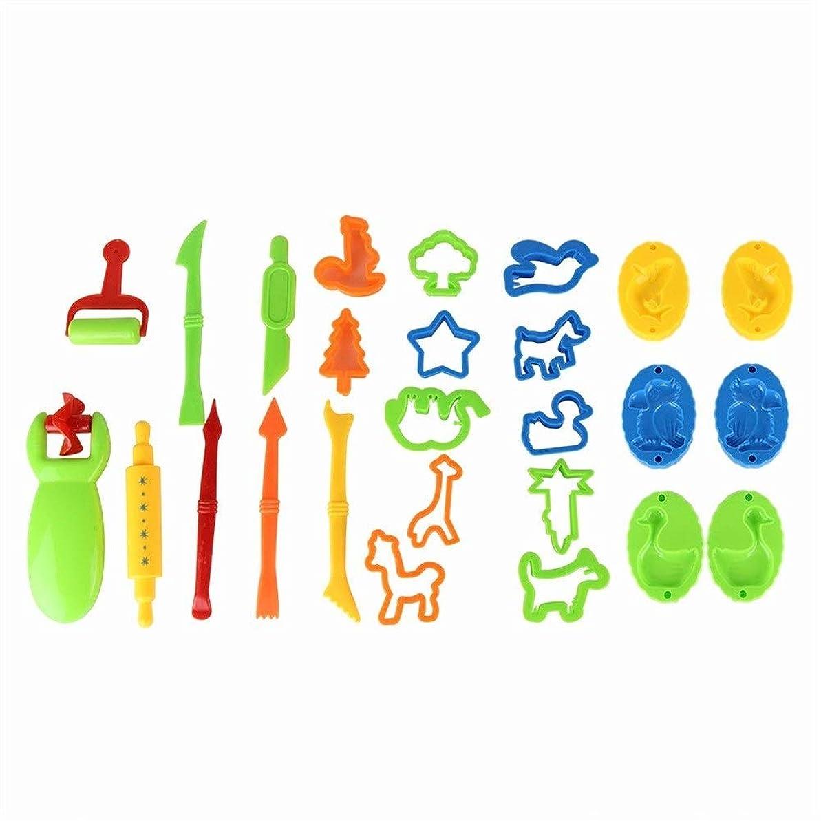 メトロポリタンルートベテラン26個キッズ粘土生地金型ツールプレイセットプレイローリング動物海の生き物玩具シェイプメーカージオメトリ就学前教育玩具DIY美術工芸キット パズル おもちゃ