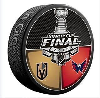 NHL 2018 STANLEY CUP FINAL DUELING PUCK GOLDEN KNIGHTS VS. CAPITALSPRE-ORDER ITEM - SHIPPING BEGINS ON JUNE 5TH LAS VEGAS