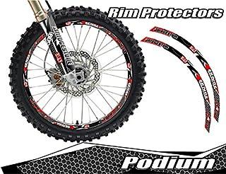 Senge Graphics Podium Red rim protector set for one 18 inch rim and one 21 inch rim